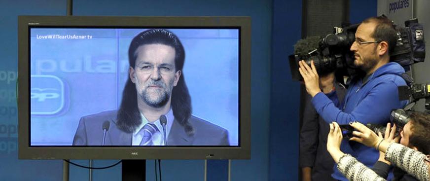 Comparecencia de Rajoy desde la peluquería