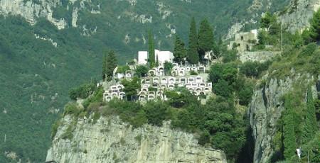 Cementerio de Positano, Italia