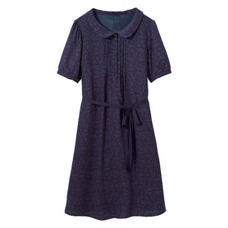 round collar dress