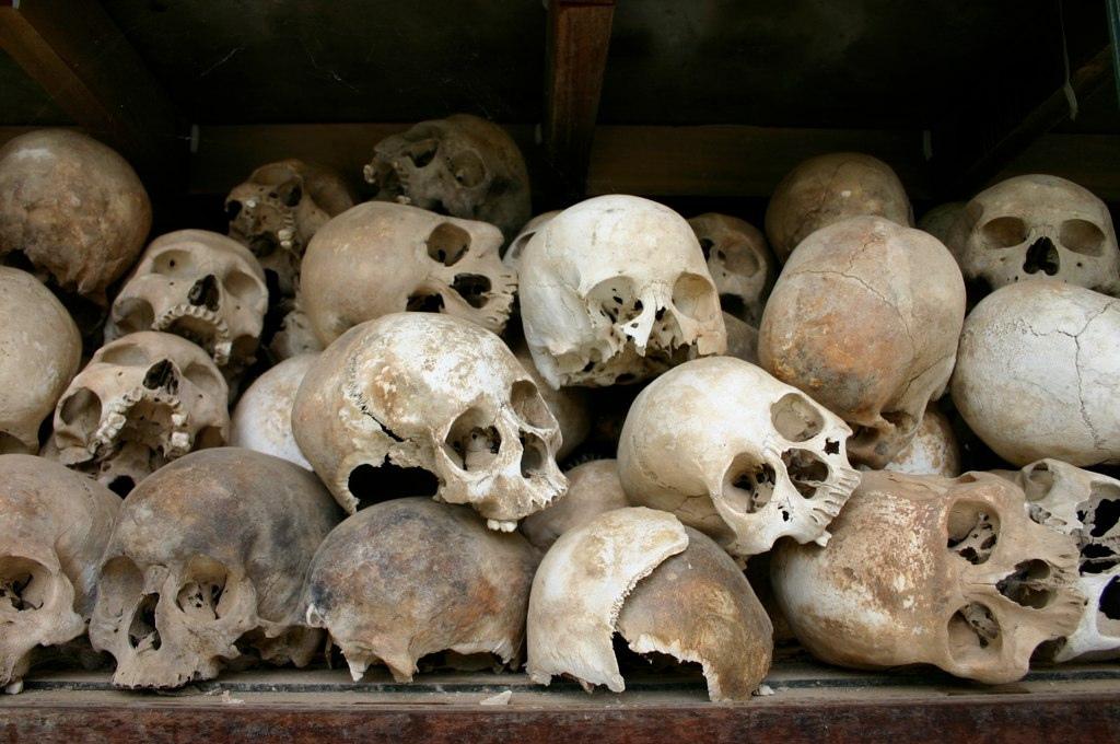 calaveras genocidio de Camboya
