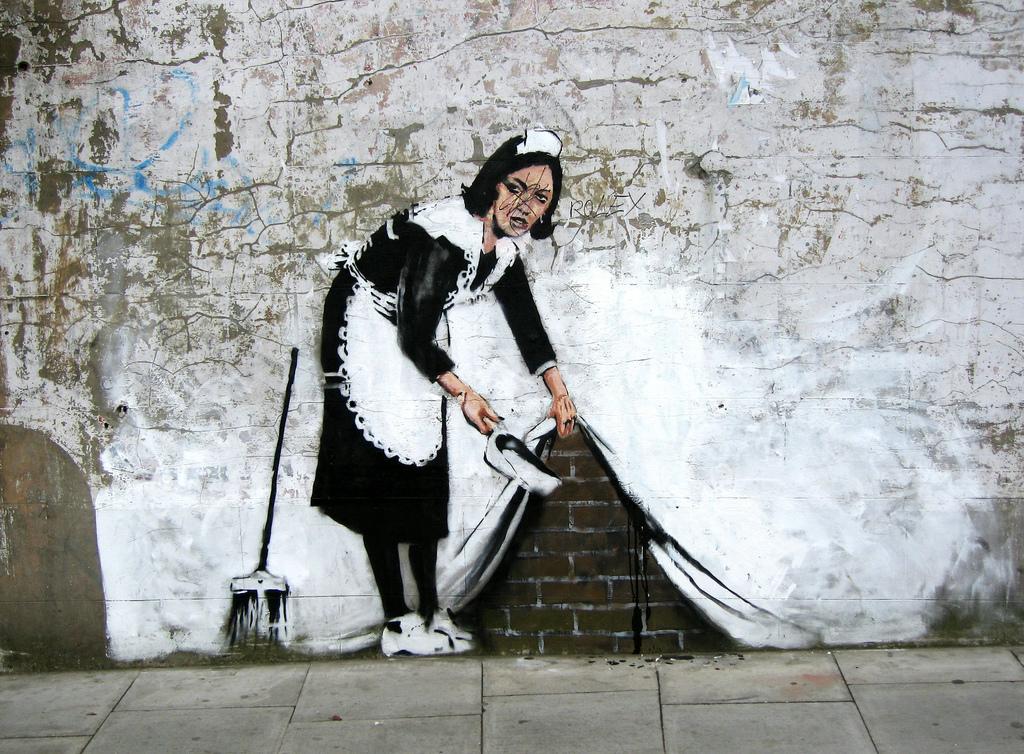 Una docena de obras de arte urbano para la denuncia social de Bansky