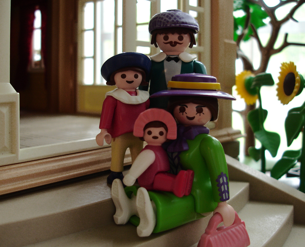 familia feliz playmobil