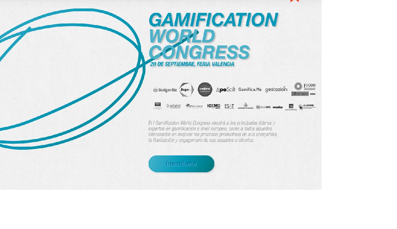 Una docena de razones para asistir al Gamification World Congress de Valencia