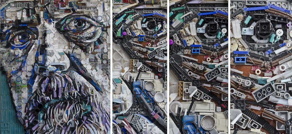Una docena de obras de arte hechas con materiales reciclados