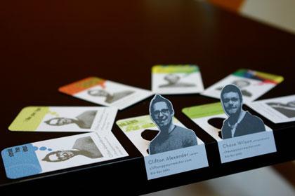 tarjetas con caricatura o dibujo