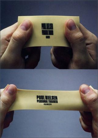 tarjeta de visita de goma