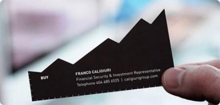 tarjeta de visita de un agente financiero