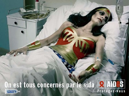 wonderwoman enferma de SIDA