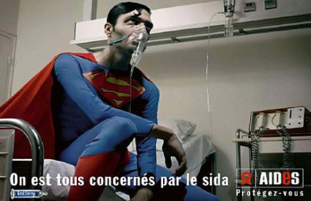 superman enfermo de SIDA