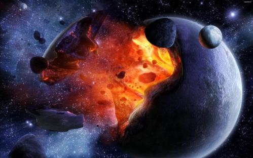 Aniquilación planetaria por antimateria