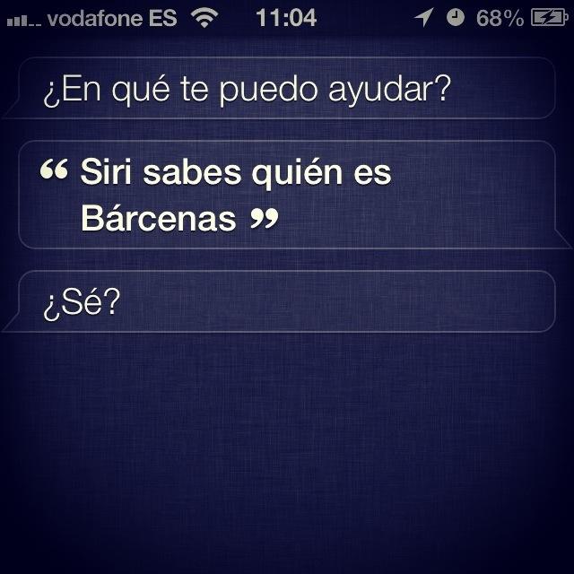 Siri y Bárcenas