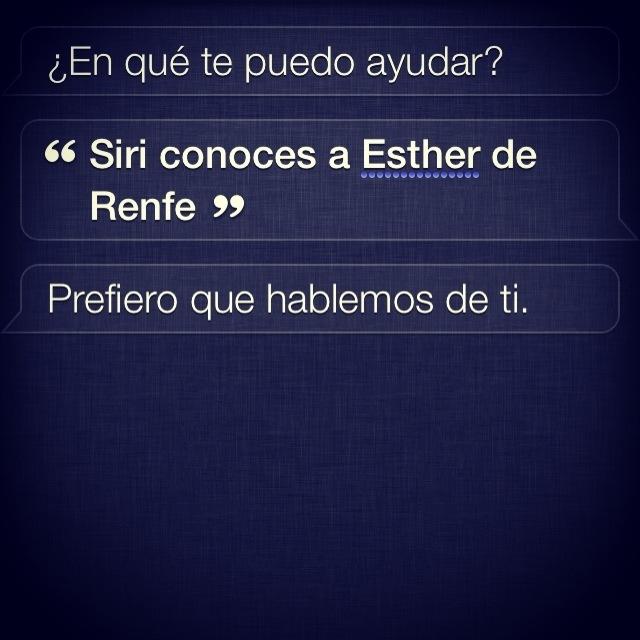 Siri y Renfe
