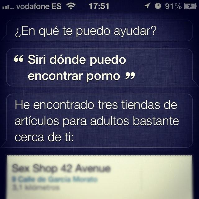 Siri y el porno