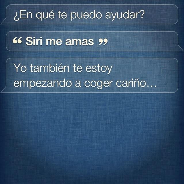 Siri y el amor