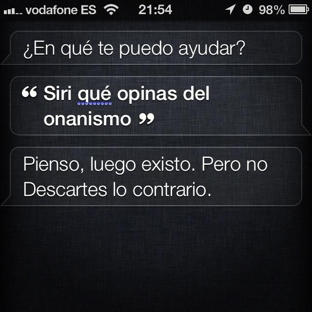 Siri y el onanismo