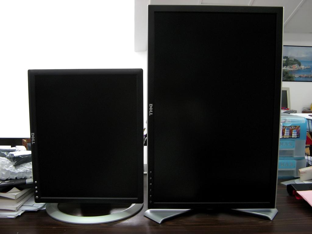 Monitor Grande - Monitor pequeño