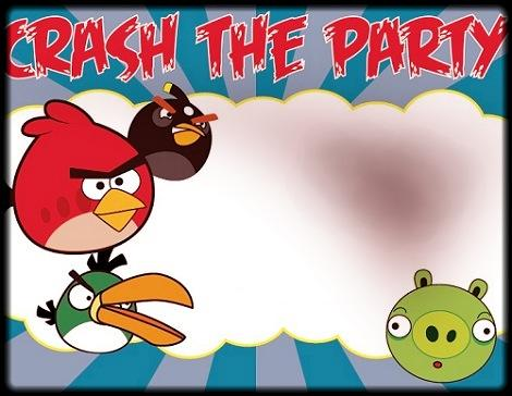 nvitacion Cumpleaños Infantil Angry Birds