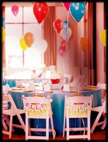 Mesa Cumpleaños Infantil redonda