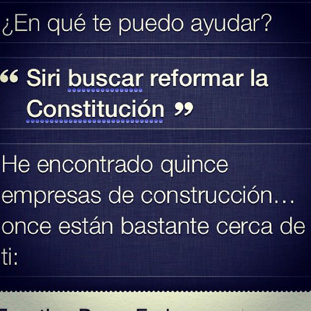 Siri y la Constitución