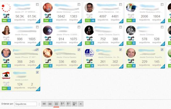 Acciones en masa sobre los usuarios