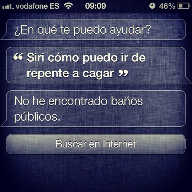 Siri y el cagar