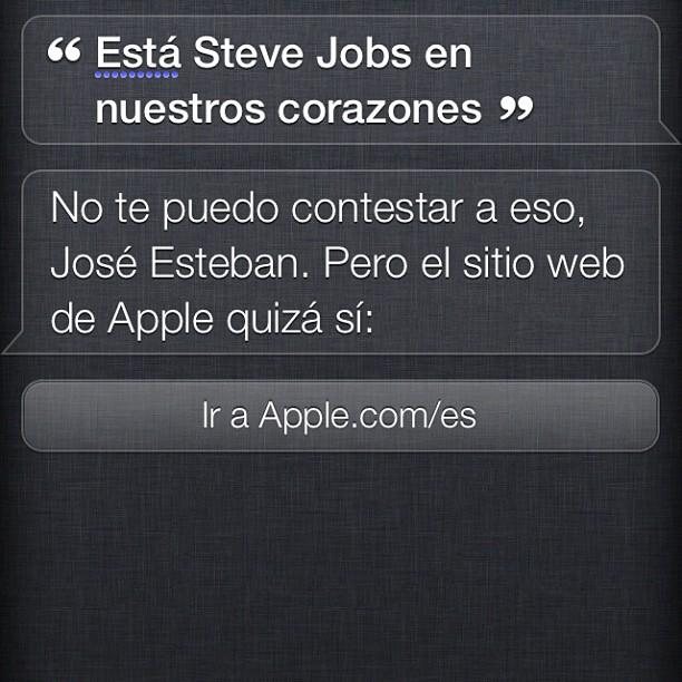 Siri y Steve Jobs