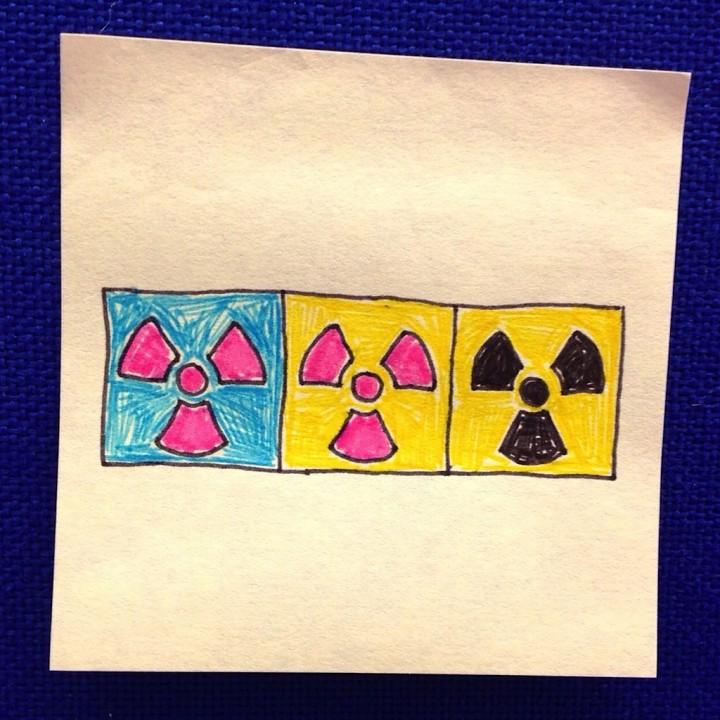 símbolo de la radiactividad