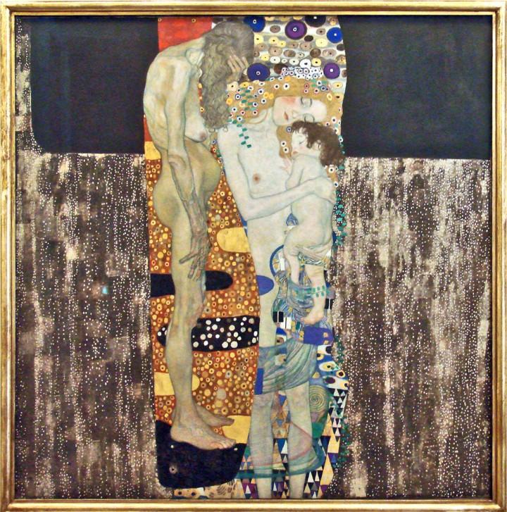 Las tres edades, de Gustav Klimt