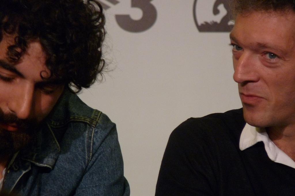 Romain Gavras y Vincent Cassel en Sitges 2010
