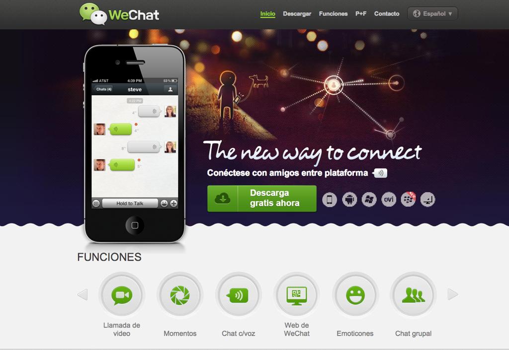 Una docena de razones para probar WeChat