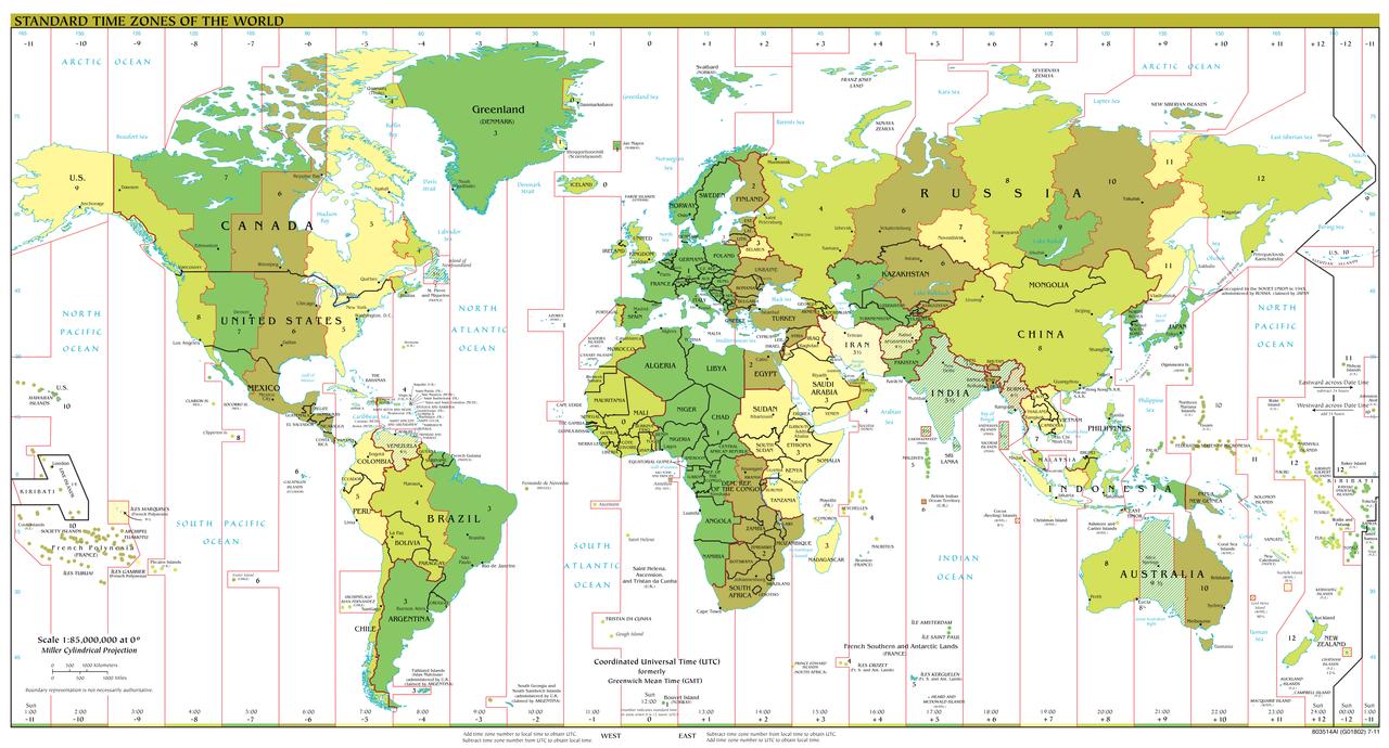 Husos horarios mundiales