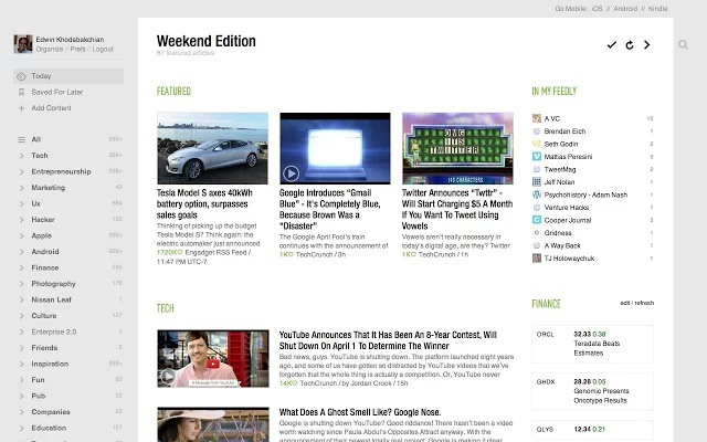 Feedly Extension
