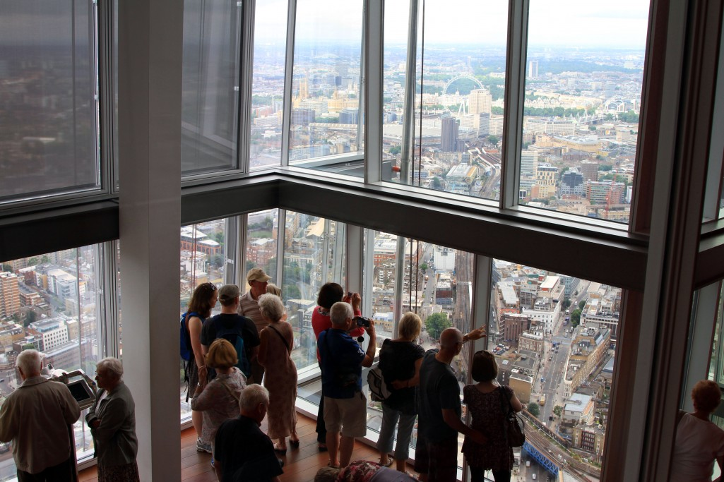 Una de las terrazas de The View from The Shard
