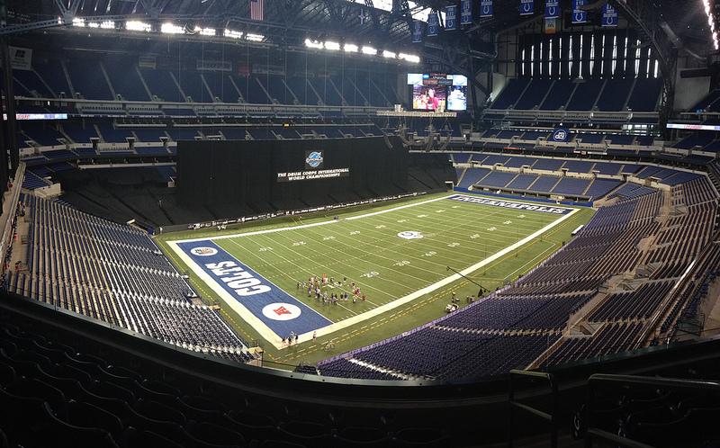 Panorámica del Lucas Oil Stadium, el hogar de los Indianapolis Colts de la NFL.