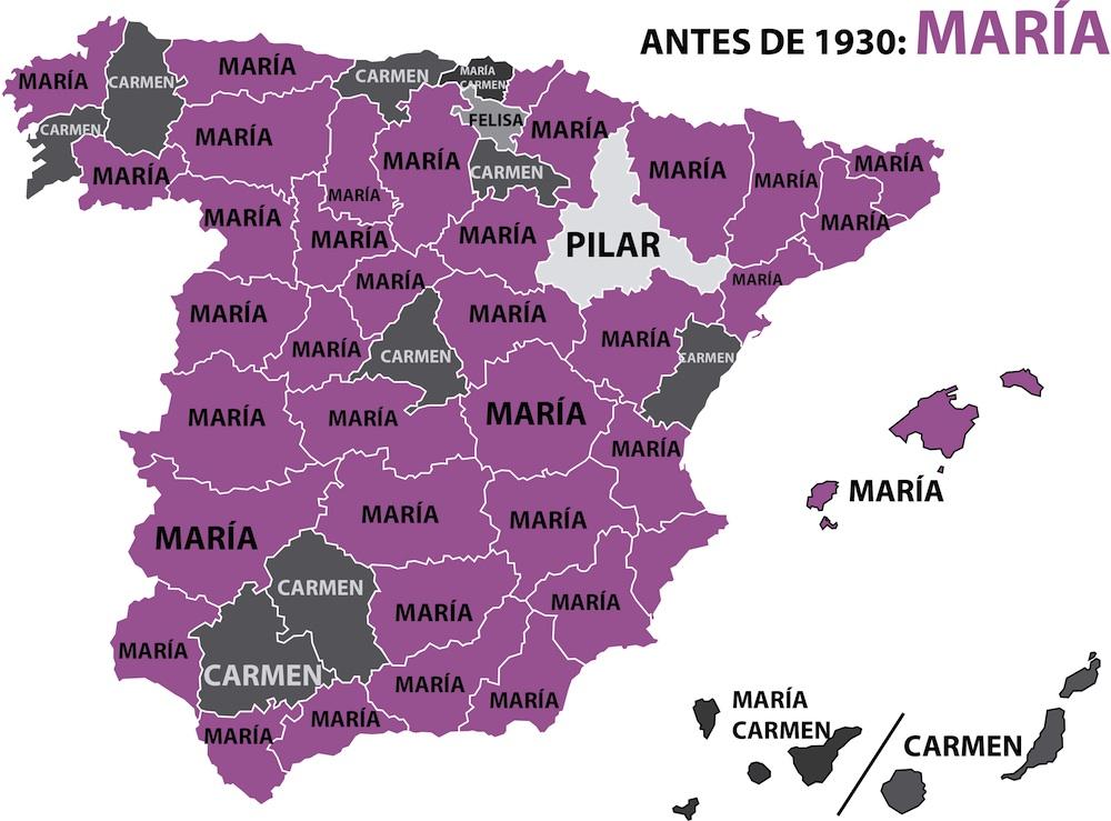 Nombres de mujer en España: 1920