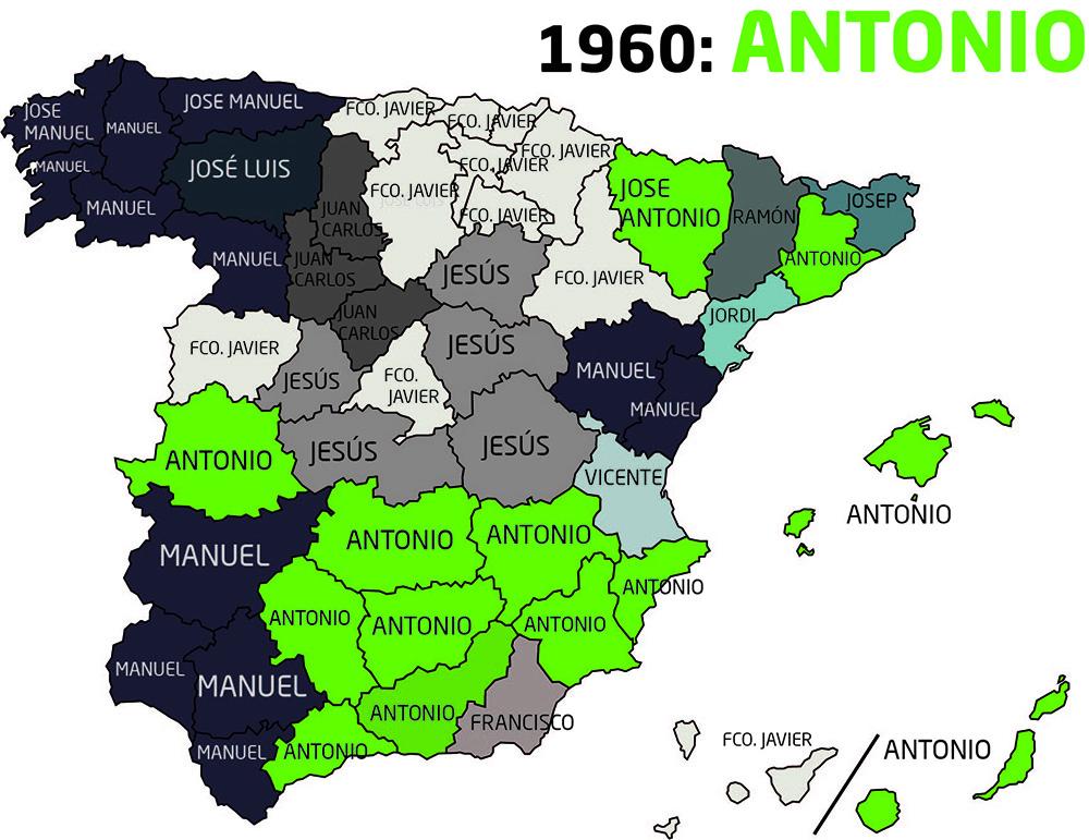Nombres más puestos de 1960 a 1969