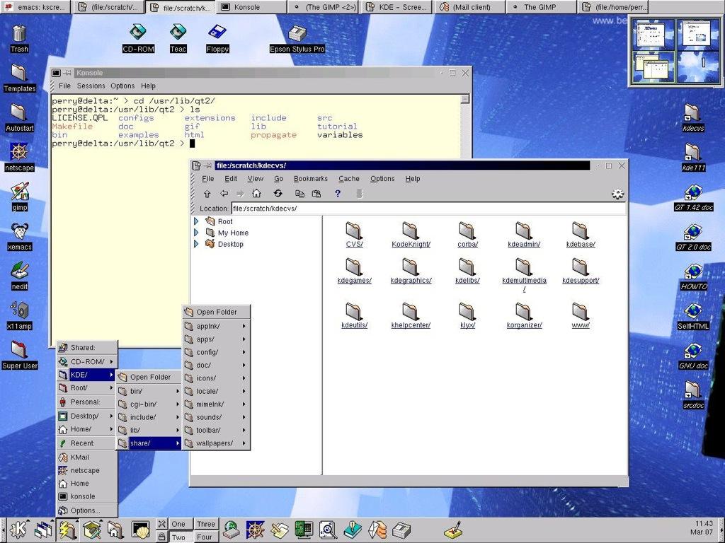Una docena de características de KDE