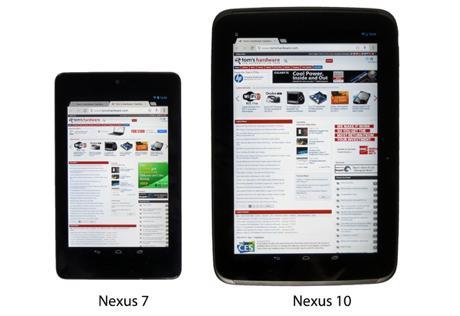 Nexus7 y Nexus10