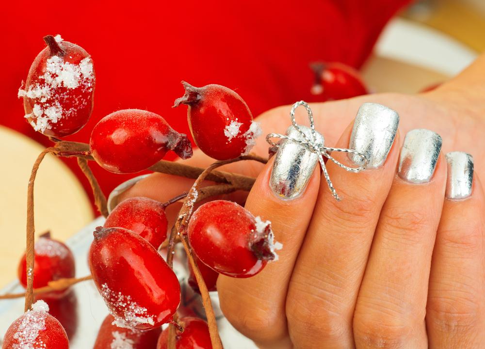manicura navidad