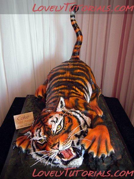 Торт в форме тигра фото