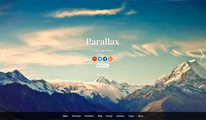 Parallax Tema WordPress