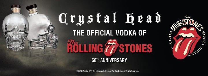 Una docena de _ Rolling Stones _ crystal head