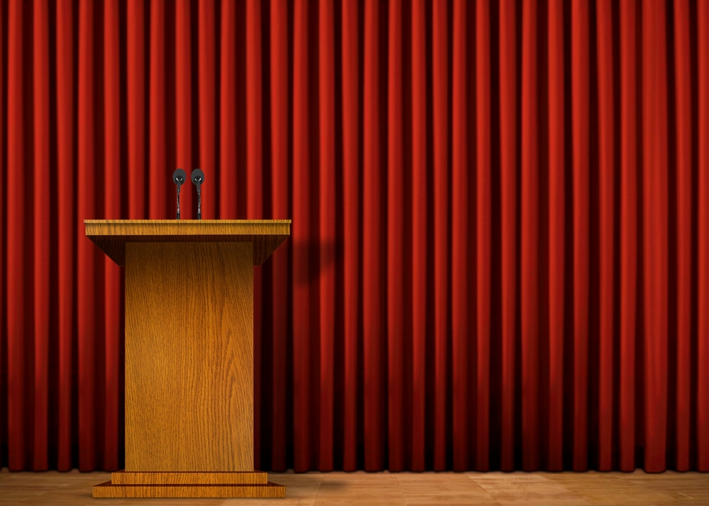 atril hablar en publico