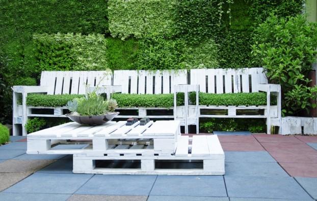 Una docena de ideas para construir muebles de terraza y - Material para jardin ...