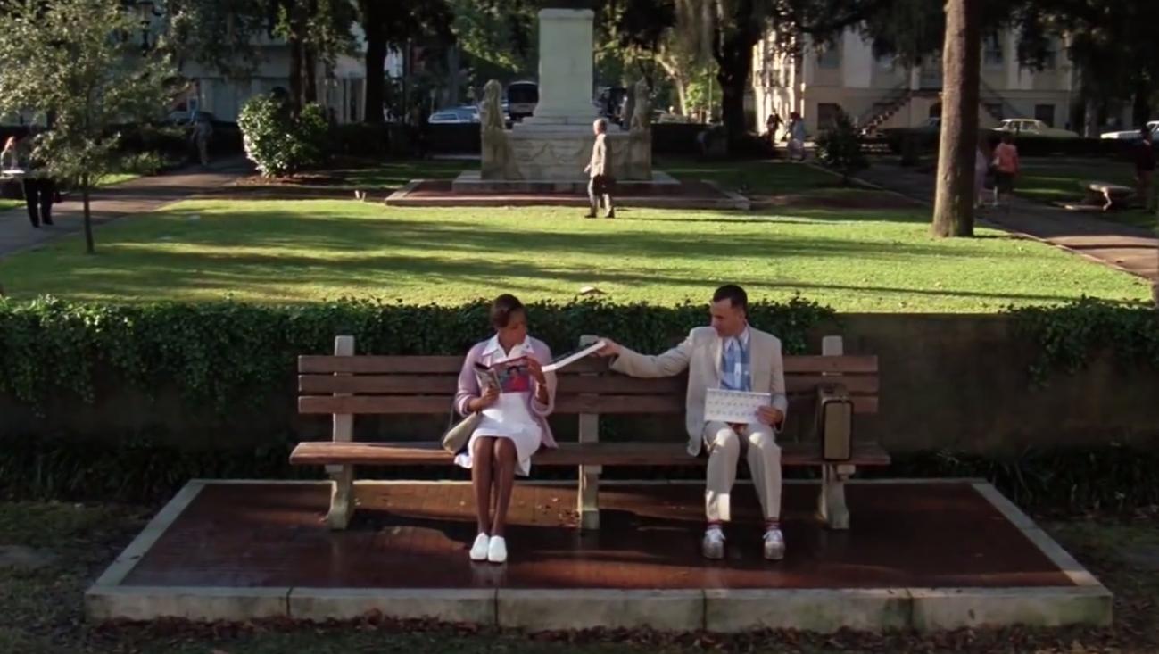 forrest gump bench