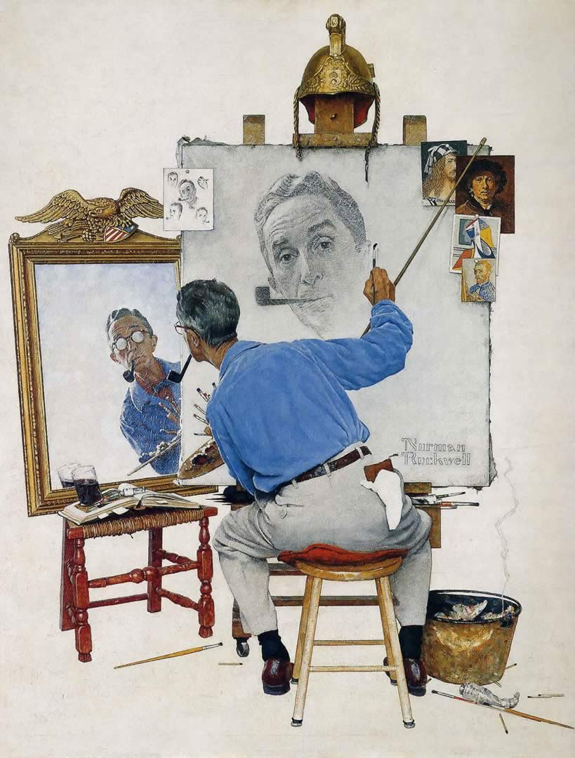 triple-self-portrait