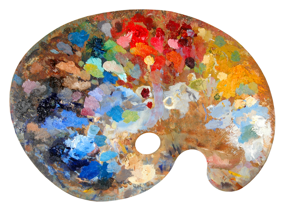 paleta pintor