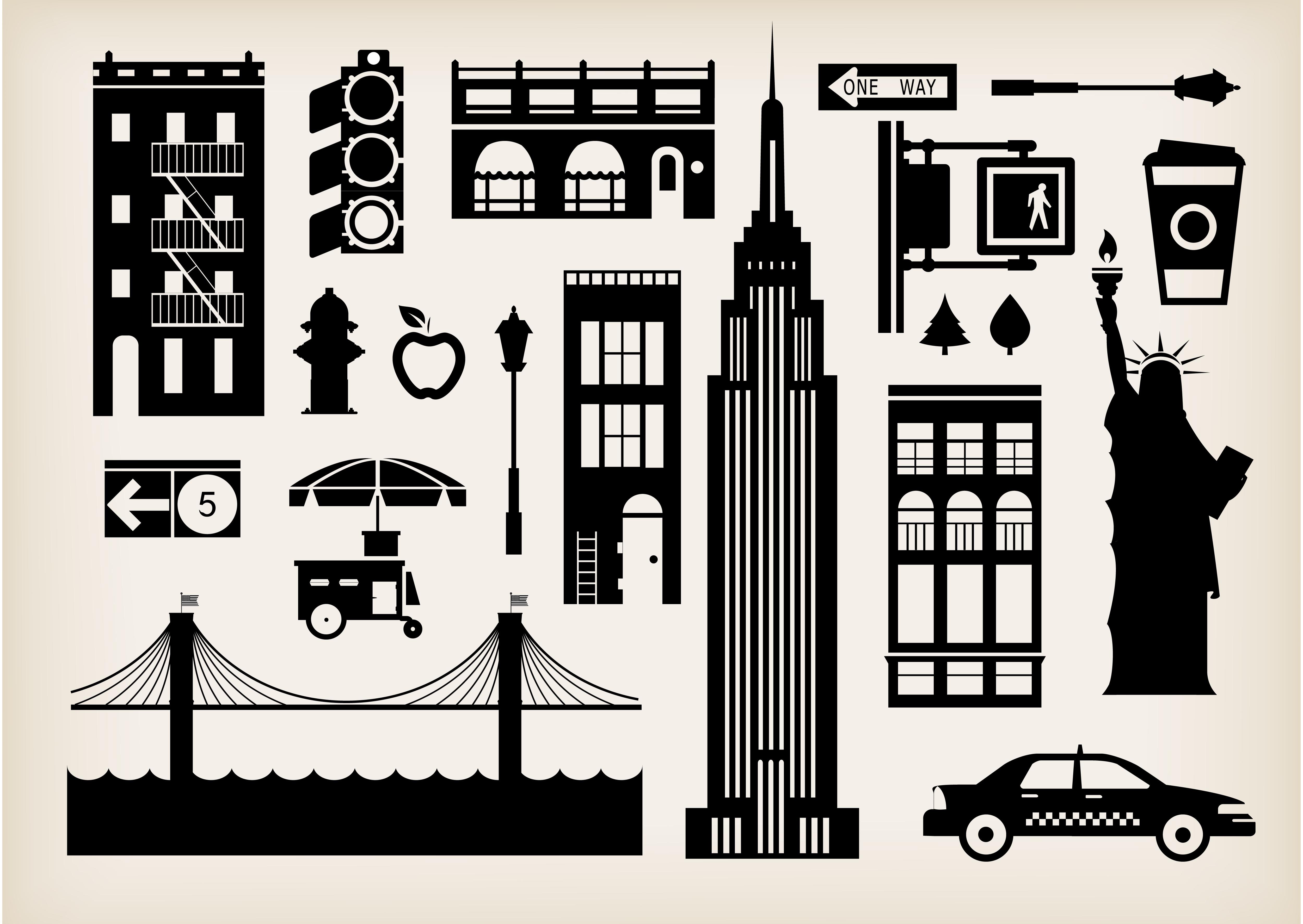 iconos de nueva york