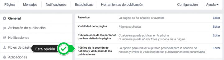 Cómo configurar la opción de segmentación de las páginas de Facebook